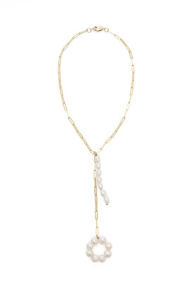 Timeless Pearly CHAIN NECKLACE WITH PEARLS OS White, Gold