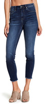 Vigoss Chelsea High Rise Frayed Hem Cropped Skinny Jean