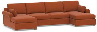 Pottery Barn Jenner Roll Arm Upholstered U-Chaise Sectional