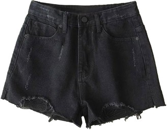 Goodnight Macaroon 'Rylee' High Waisted Distressed Denim Shorts (3 Colors)