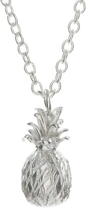 Lucy Flint Jewellery Large Pineapple Necklace Sterling Silver