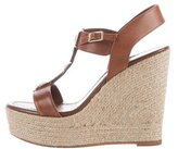 Kate Spade Leather Espadrille Wedges