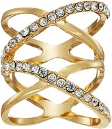 GUESS Double Crisscross Pave Ring Ring