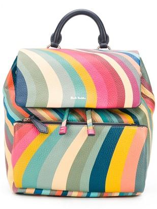 Paul Smith Stripe-Print Backpack