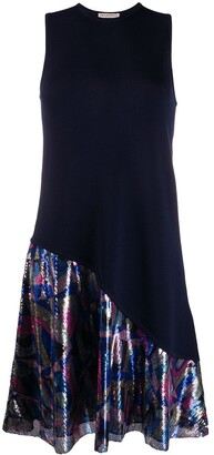 Emilio Pucci Geometric Sequin Panel Dress