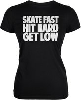 Tee's Plus Roller Derby Skate Fast Juniors Soft T-Shirt