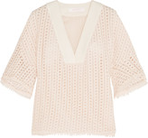 See by Chloe Embroidered cotton-lace top
