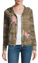 JWLA by Johnny Was Dorana Embroidered Camo Hoodie, Petite