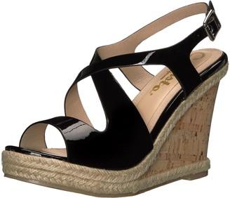 Callisto Women's Brielle Wedge Sandal Black Patent 10 M US
