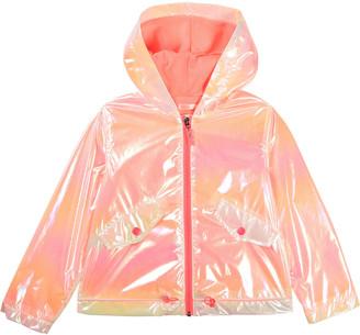 Billieblush Girl's Iridescent Hooded Wind-Resistant Jacket, Size 4-10