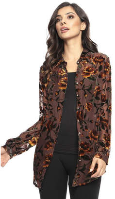 Adore Floral Burnt-out Blouse
