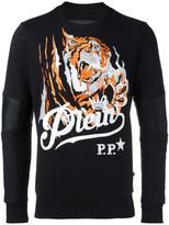 Philipp Plein Blood Tiger sweatshirt - men - Cotton/Polyester/Polyurethane - S