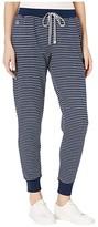 Lauren Ralph Lauren Cotton Polyester Interlock Separate Jogger Pants (Navy Stripe) Women's Pajama