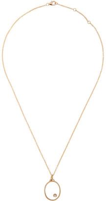 Yvonne Léon Gold Oval Medallion Necklace