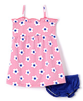 Sweet & Soft Pink Floral Tank Dress & Diaper Cover - Infant