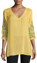 Johnny Was Nina V-Neck Georgette Blouse, Plus Size