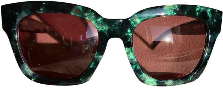 Ganni Spring Summer 2019 Green Other Sunglasses