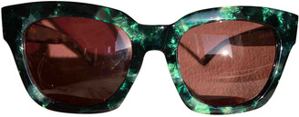 Ganni Spring Summer 2019 Green Other Sunglasses