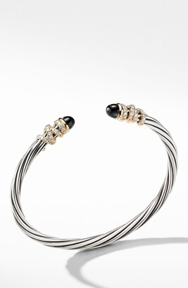 David Yurman Helena End Station Bracelet with Diamonds & 18K Gold, 4mm