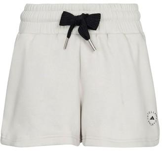 adidas by Stella McCartney Logo cotton-blend jersey shorts