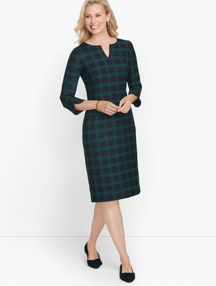 Talbots Plaid Shift Dress