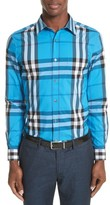 Burberry Men's Nelson Check Sport Shirt