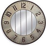 Bassett Mirror Company Branson 48-Inch Round Metal Mirror in Aluminum/Bronze