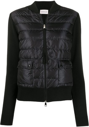 Moncler Quilted-Effect Zipped Cardigan