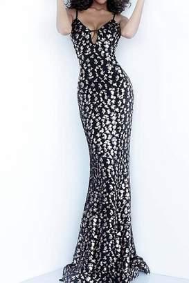 Jovani Plunging Neckline Spaghetti Straps Gown