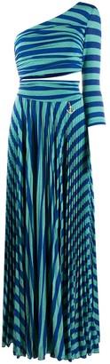 Elisabetta Franchi tiger stripe evenig dress