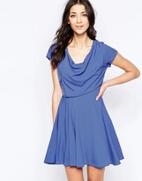 Wal G Skater Dress With Drape Top