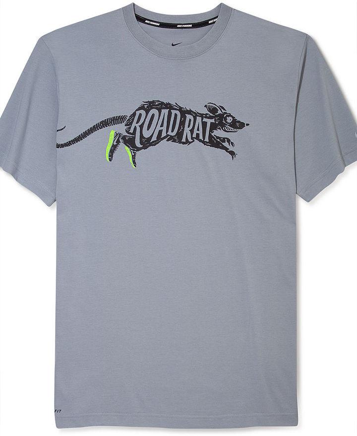 Nike Dri-FIT Shirt, Road Rat Running T-Shirt