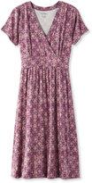 L.L. Bean Summer Knit Dress, Short-Sleeve Medallion Print