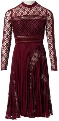 Self-Portrait Self Portrait Burgundy Polyester Dresses
