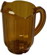 Versapour 60 oz., 8.25 in. tall Polycarbonate Pitcher in Amber (Case of 6)