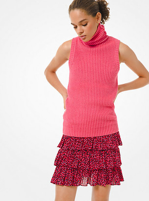 MICHAEL Michael Kors MK Cotton Blend Sleeveless Sweater - Camila Rose - Michael Kors
