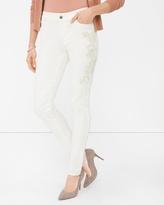 White House Black Market Embroidered Skinny Jeans