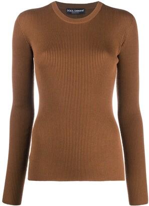 Dolce & Gabbana Knitted Virgin Wool Jumper