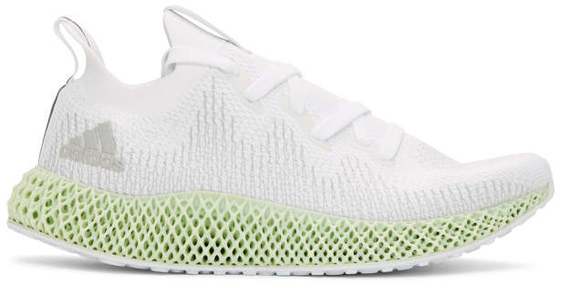 adidas White and Grey Alphaedge 4D WC Sneakers