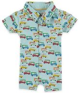Rockin' Baby Ice Cream Trucks Shorty Romper in Blue