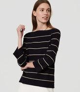 LOFT Shimmer Stripe Boatneck Sweater