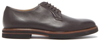 Tod's Leather Derby Shoes - Mens - Dark Brown