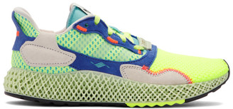 adidas Yellow and Green ZX 4000 4D Sneakers