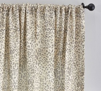 Pottery Barn Cheetah Print Linen/Cotton Rod Pocket Curtain