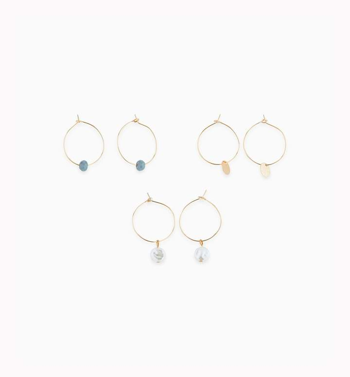 Promod Set of 3 pairs earrings