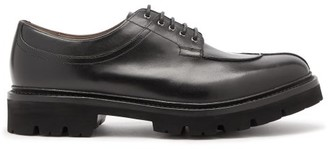 Grenson Percy Chunky Sole Leather Derby Shoes - Mens - Black