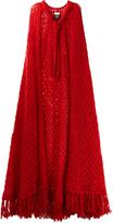 Gucci Neck-tie wool-blend cape