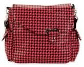 Kalencom Ozz Messenger Bag in Pink/Black Houndstooth