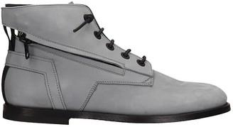 Bruno Bordese Ankle Boots In Grey Nubuck