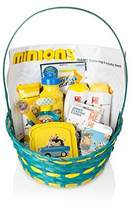 BASSKET.COM Minions Gift Basket for Baby Boys/ Baby Girls/ Unisex Children 12 Piece Bundle Filled Basket of Fun Gift Set, Perfect Baby Gift Ideas for Birthdays, Easter, Christmas, Get Well, or Other Occasion!